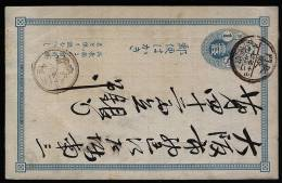 A1555) Japan Alte Karte Mit Vordruck - Interi Postali
