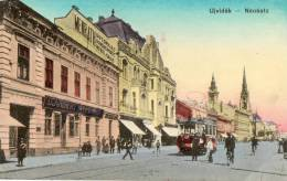 NOVI SAD UJVIDEK (Serbie) Avenue Tramway électrique Animation - Serbie