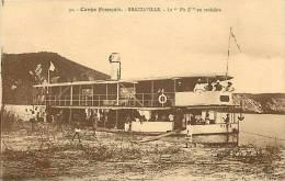 Afrique - Africa - Congo - Ref A499- Congo Francais -bateau  Le Pie X En Croisiere - Brazzaville -carte Bon Etat  - - Brazzaville