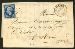 HAUTE GARONNE : Pli Avec 20c EMPIRE Dentelé Oblt GC 3762 + CàDate Type 15 De St MATORY (30) P MURET - Marcophilie (Lettres)
