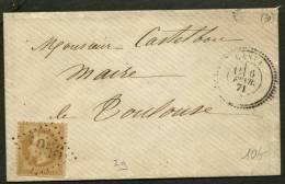 HAUTE GARONNE : Pli Avec 10c EMPIRE Lauré Oblt GC 1956 + CàDate Type 24 De LANTA (30) P TOULOUSE - Marcophilie (Lettres)