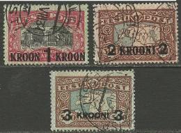 Estland Estonia 1930 Michel 87 - 89 O 88-89 Are Signed/signiert - Estonie