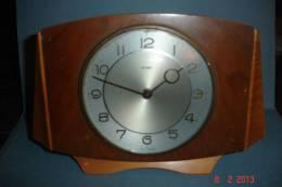 Réveil Anglais Avec Sonnerie Metamec Années 1950 8 Jours 7 Rubis Mvent Français Hêtre Etnoyer L:23 H:15,5 - Alarm Clocks