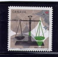 CANADA  2012, USED # ,  ZODIAC  SIGNS: LIBRA    SIGNE DU ZODIAQUE LA BALANCE USED - Carnets