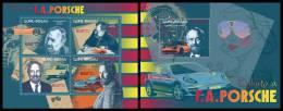 GUINEA BISSAU 2012 - F.A. Porsche. M/S + S/S Official Issue - Beroemde Personen