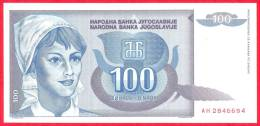 Yugoslavia -  100 Dinara - UNC - 1992 - Banknote / Papier Monnaie - Billet - Yougoslavie - Yougoslavie