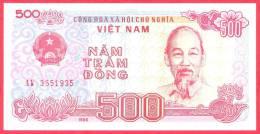 Vietnam 500 Dong - UNC - 1988 - Banknote / Papier Monnaie - Billet - Viet-Nam - Viêt-Nam