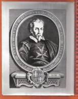 MALTA - KNIGHTS OF MALTA -  MARTIN GARZES  1505 - OLD PRINT BY EMPORIUM VALLETTA MALTA - - Prints & Engravings