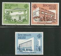 Seychelles    Centenary Of  Banking      Set    SC# 622-24 MNH** - Seychelles (1976-...)