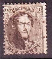 """N°14 Lpts O.I Avec Curiosité """"halo Blanc à Gauche De L'effigie"""" - 1863-1864 Médaillons (13/16)"""