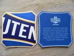 Beer Bier Coaster From Lithuania, Utenos Auksinis - Sous-bocks