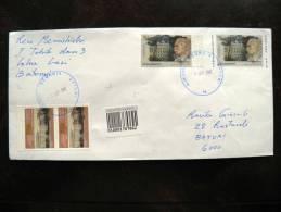 Cover Sent In Georgia, Postal Stationery Cover Ivane Javakhishvili + Stamps, Registered - Georgia