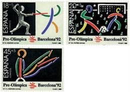 Ref. 85831 * NEW *  - SPAIN . 1989. GAMES OF THE XXV OLYMPIAD. BARCELONA 1992. 25 JUEGOS OLIMPICOS VERANO BARCELONA 1992 - 1981-90 Nuevos & Fijasellos