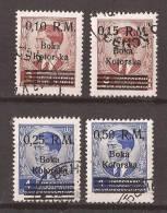 1944 X 7-10 KOTOR MONTENEGRO CRNA GORA DEUTSCHE BESETZUNG OVERPRINT USED - Besetzungen 1938-45