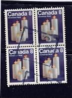 CANADA, 1972, USED BLOCK # 607pi,  Tagged GT2,   CHRISTMAS CANDLES  USED - 1952-.... Règne D'Elizabeth II
