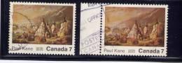 CANADA, 1971, USED  # 553-53i, Stroke On Teepee USED - 1952-.... Règne D'Elizabeth II