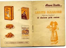 S3919 LIBRETTO RICETTE LIEVITO ALSAZIANO PUBBLICITA' STABILIMENTO MOENCHI E FIGLI  MILANO - House & Kitchen