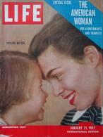 Magazine LIFE - JANUARY 21 , 1957 - INTER. ED. -  Publicités Voitures CHRYSLER CORPORATION - PEPSI-COLA  (3048) - Nouvelles/ Affaires Courantes