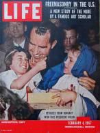 Magazine LIFE - FEBUARY 4, 1957 - INTER. ED - FREEMASONRY / FRANC-MAÇONNERIE - NIXON - Publicités COCA-COLA  Etc (3049 - Nouvelles/ Affaires Courantes