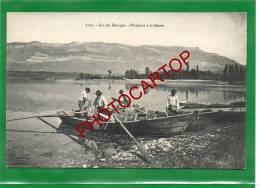 Pecheurs A La SENNE-Barque-Animation-Lac Du BOURGET-Etat TB- - Le Bourget Du Lac