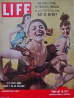 Magazine LIFE -  FEBUARY 18 , 1957 - INTER. ED. -  Autos élégantes D'  ITALIE - PEARL HARBOR -  Publicités  (3050) - Nouvelles/ Affaires Courantes