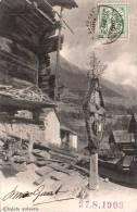 CHALETS SUISSES CARTE PRECURSEUR CIRCULEE 1903 - Suisse