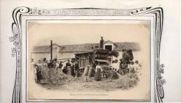 La Peyrouse Près Périgueux    24     Agriculture  Vie Aux Champs   Battage Du Blé   (voir Scan) - France