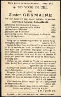 Souvenir Mortuaire SCHAUTTEET  Louise (Zuster Germaine) (1861-1931) Geboren Te BEERNEM Overleden Te BRUGGE - Devotion Images