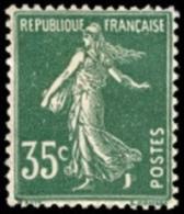 France Semeuse De Roty - N°  361 (*) Plein Fond Sans Sol Le 35c Vert - 1906-38 Semeuse Con Cameo