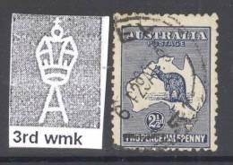 AUSTRALIA, 1915-27 2.5d Deep Indigo FU, Cat  £8.50 - Used Stamps