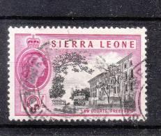 Sierra Leone 1956 10/-  F/U - Sierra Leone (...-1960)
