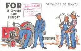 Buvard Thème Agriculture  Tracteur Paysan Vetements De Travail For  Tissu Garanti Boussac Le Confort Dans L'effort - Agriculture