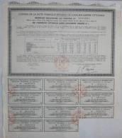 RECEPISSE PROVISOIRE AU PORTEUR / DETTE PUBLIQUE ANCIEN EMPIRE OTTOMAN / 1933 - Actions & Titres