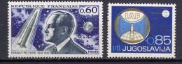 Yugoslavia / France 1967 Space 2 Stamps MNH - Raumfahrt