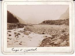Valle D´Aosta - Courmayeur -Monte Bianco - Fotografia 1897 -   Lago Combal - Aosta