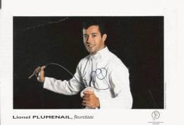 LIONEL PLUMENAIL (FRANCE FLEURETTISTE) CARTE DEDICACEE - Autogramme & Autographen