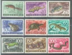 YU 1962-1007-15 FAUNA, YUGOSLAVIA, 9v , MNH - Reptiles & Batraciens