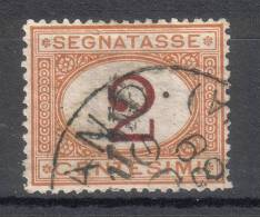 Regno D´Italia - 1870 Segnatasse (usato) 2 Centesimi Ocra E Carminio Sass. 2 - 1861-78 Victor Emmanuel II