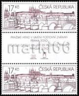 Czech Republic - 2010 - Prague Castle In The Stamp Art Exhibition - Mint Stamp Pair With Gutter - Ongebruikt