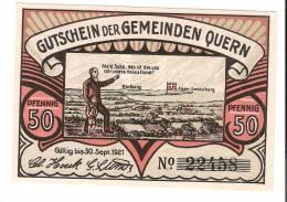 **notgeld Quern 50 Pf  ND (1921)  1091.2/2 - [11] Emissions Locales