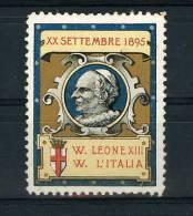 ROMA PAPA LEONE XIII PROTESTA CATTOLICI CONTRO FESTE INDIPENDENZA 1895 - Erinnofilia