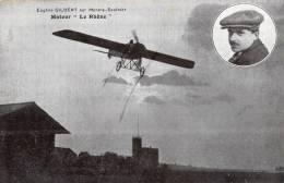 EUGENE GILBERT SUR MORANE-SAULNIER MOTEUR LE RHONE - Aviatori
