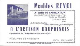 Buvard Meubles Revol Atelier De Fabrication  A L'artisan Dauphinois  Les Abrets Isere  Voitures Camion - Carte Assorbenti