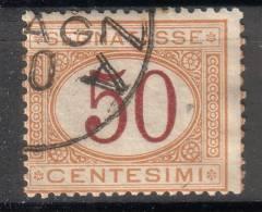 Regno D´Italia - 1890 Segnatasse (usato) 50 C. Arancio E Carminio Sass. 25 - 1878-00 Humbert I