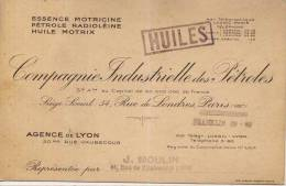 Carte Compagnie Industrielle Des Pétroles  - Lyon - Cartes De Visite