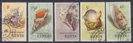 Kenya 1971 Mi. 45-49 1-10 Sh Weichtiere Des Meeres Shells Conch Konkylien - Kenia (1963-...)