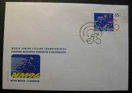 ESLOVENIA 1996 - F.D.C. CAMPEONATO DEL MUNDO JUNIO DE CICLISMO - Ciclismo