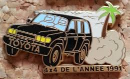 PIN´S AUTOMOBILE TOYOTA 4X4 DE L'ANNEE 1991 ARTHUS BERTRAND PARIS - Toyota