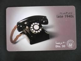 E.A.U. - UNITED ARAB EMIRATES  - 30 Dhs Combiné Téléphonique Late 1940s - United Arab Emirates