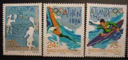 HUNGRIA 1996 - JJOO DE ATLANTA 96 - YVERT Nº  3537-3539 - Verano 1996: Atlanta